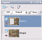 Layer palette showing inverted selection and new layer